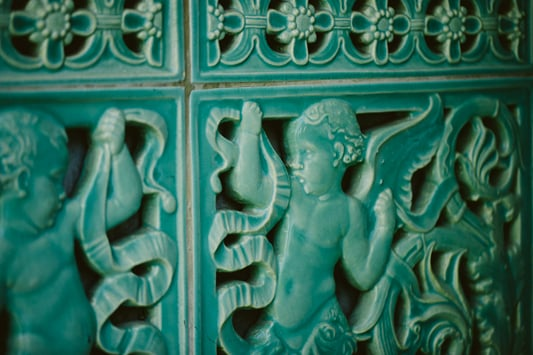 Details from the  Pleasantdale Chateau's Fountain Room