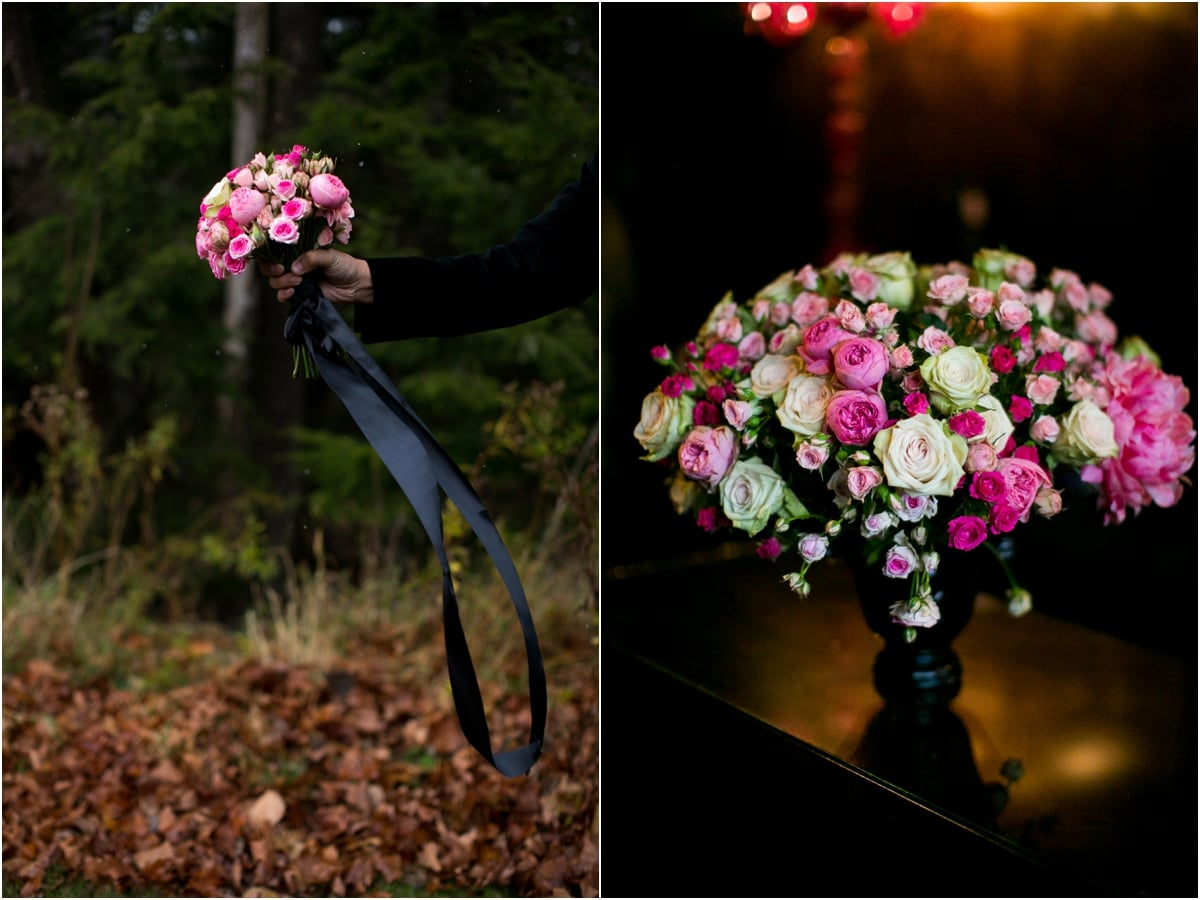 Pink Roses Bouquet and Centerpiece- Chelo Keys