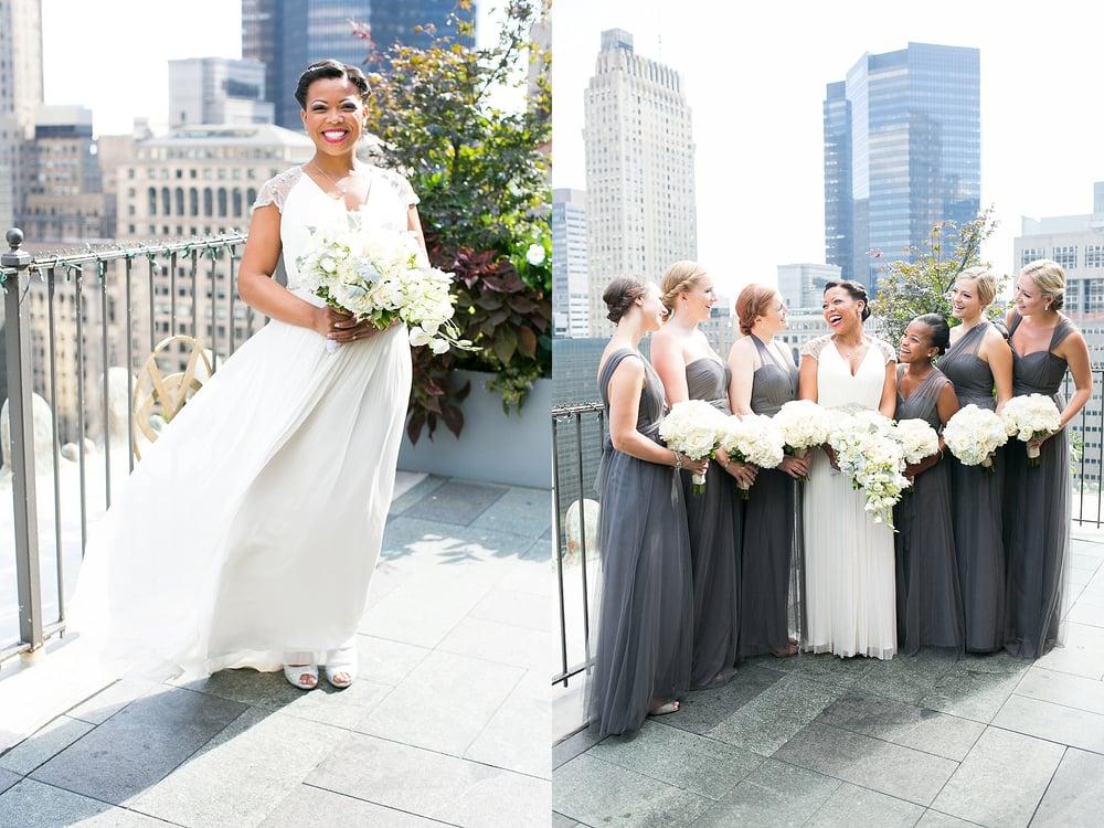 NYC rooftop wedding photography, rooftop wedding