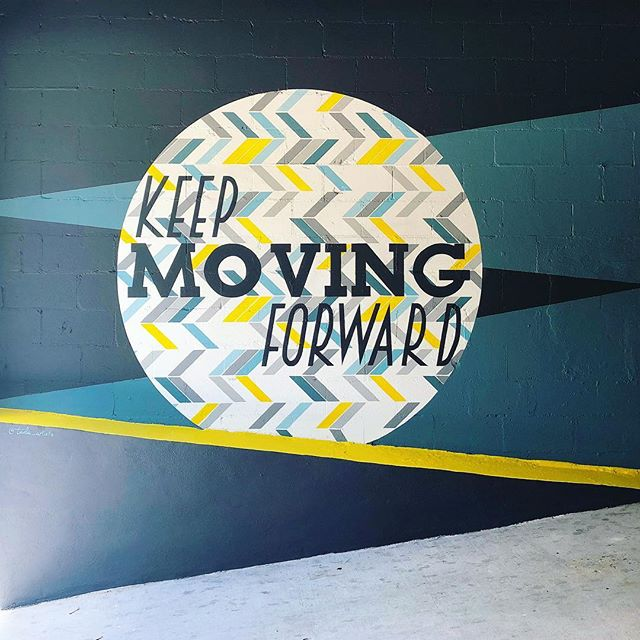 We keep moving forward, opening new doors, and doing new things, because we're curious and curiosity keeps leading us down new paths. #WaltDisney #tada #mural #tampamurals #keepmovingforward #factory114 #artistlife #dynamic #geometric #quotes #channeldistrict #tadaartist #downtowntampa #newmural #artistforhire #tampaartist