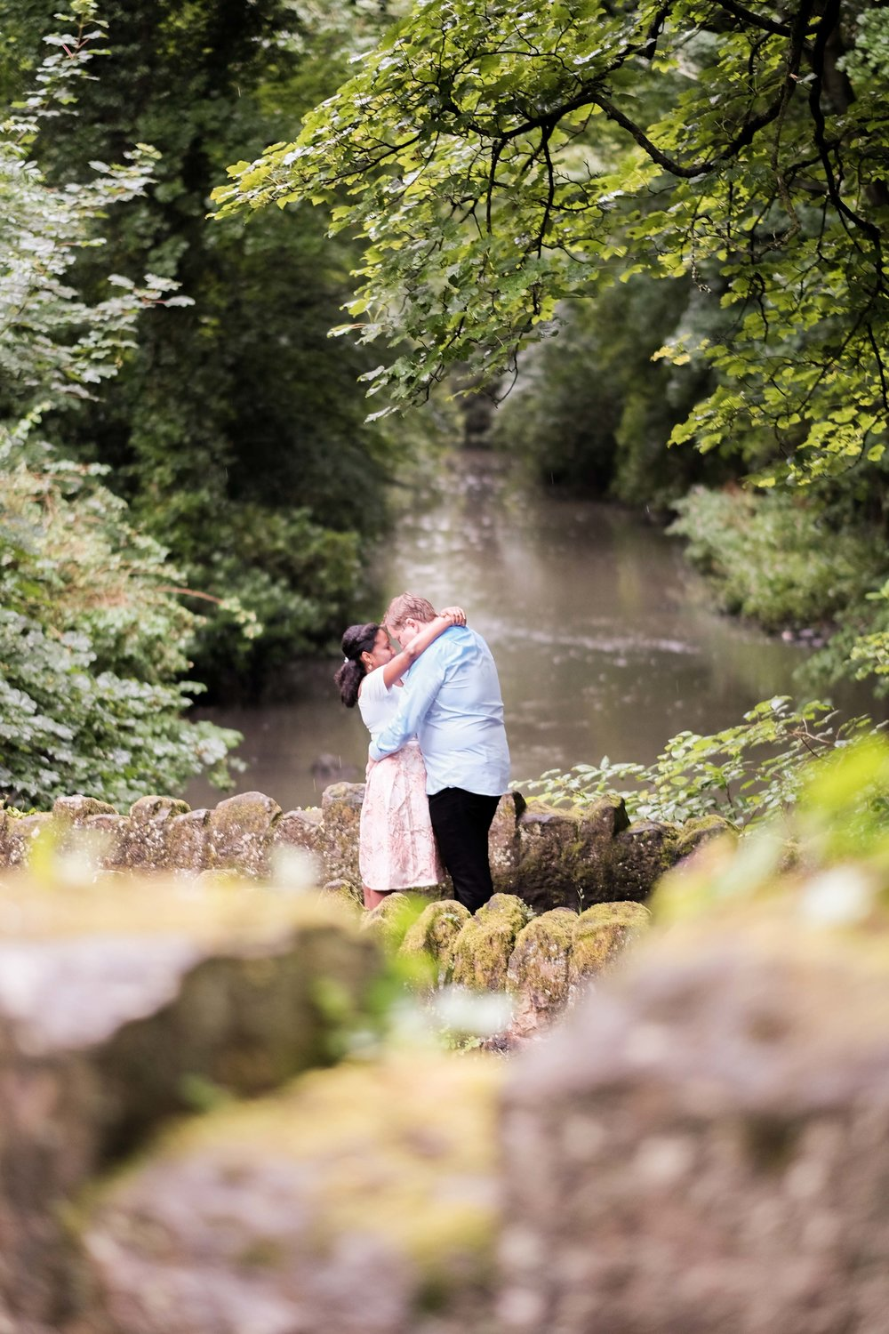 Jesmond Dene Engagement photoshoot