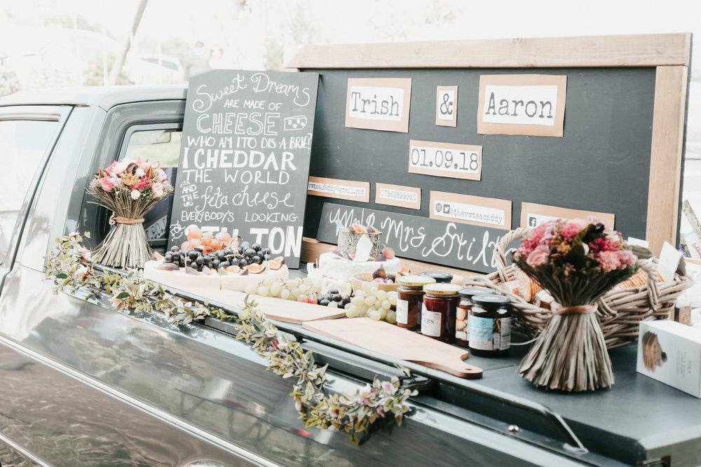 Wedding food | Cheese board | Aaron jeffels Photography