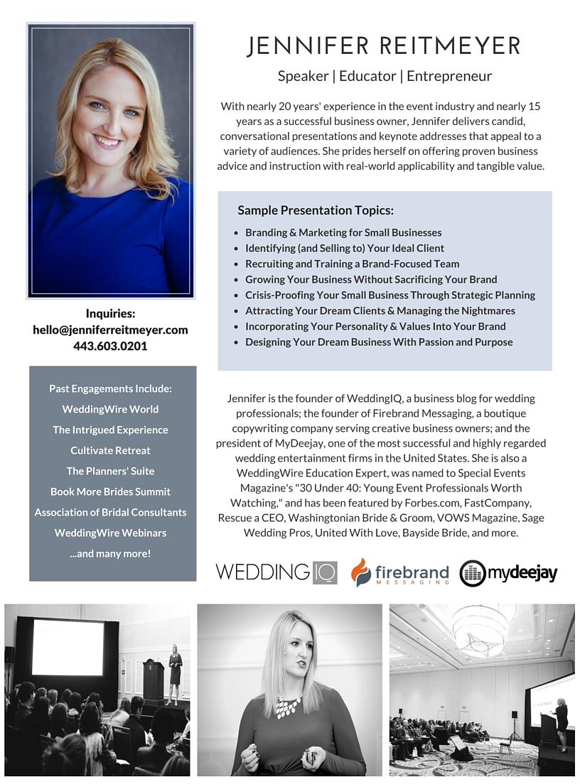 Jennifer Reitmeyer speaker sheet - click to download PDF