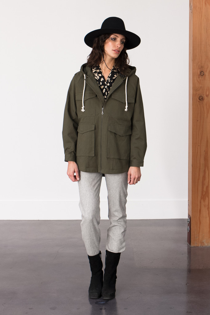 Bridge & Burn Howell Olive Canvas Parka