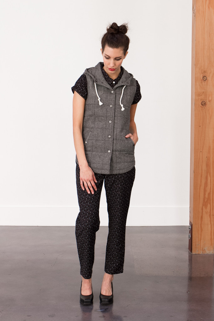Bridge & Burn Kinney Herringbone Wool Vest