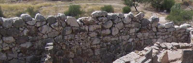 A typical stretch of Cyclopean walling (near Grave Circle A at Mycenae)