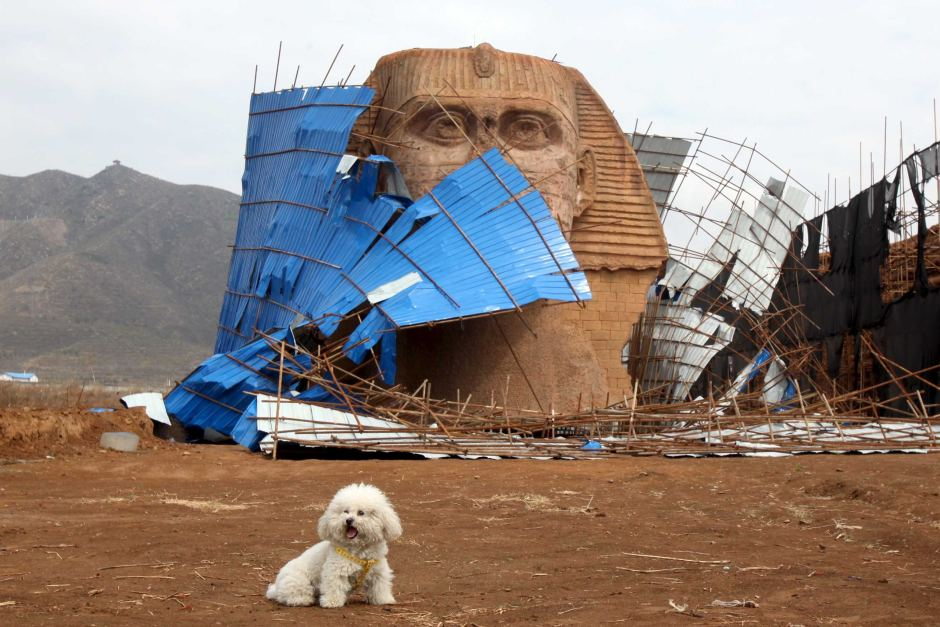 Fake Sphinx with Dog  , Hebei Provience, China