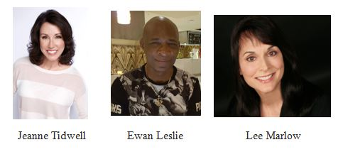 Introducing: Ewan Leslie as Robert Logan - Jeanne Tidwell as Adrianna Fleming - and Lee Marlow as Dawn Peters
