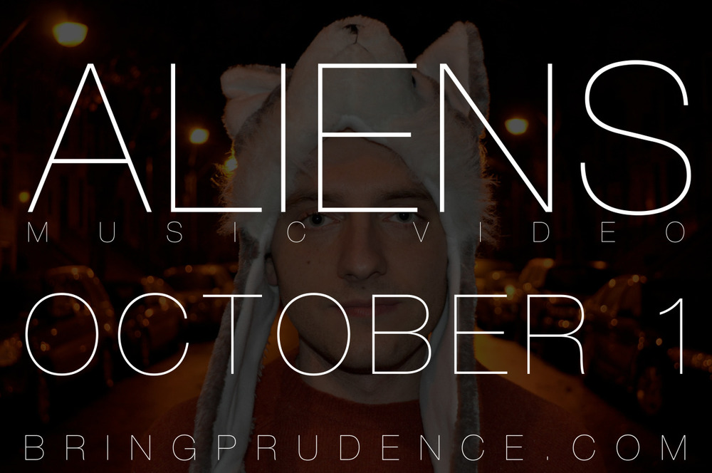 "Just 3 days left until the premiere of my new music video for the song ""Aliens""! Just what the heck is going on in that picture??  If you still haven't heard my new album, go to  http://music.bringprudence.com"
