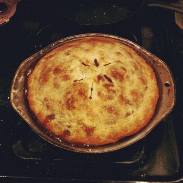 My first pie - apple cranberry walnut! (Taken with  Instagram )