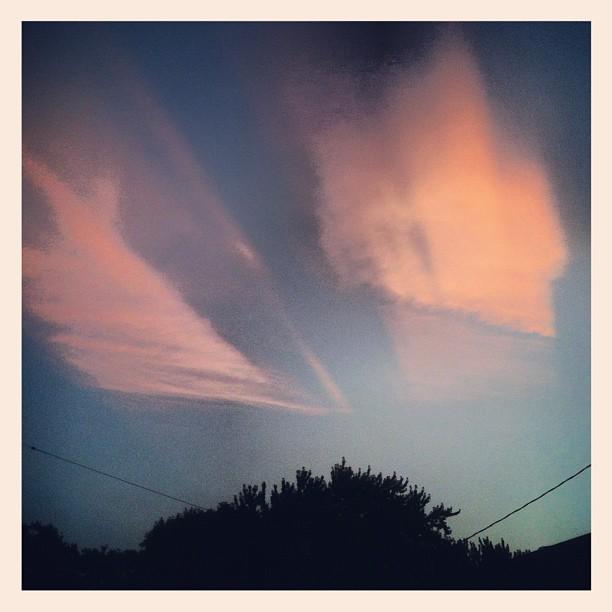 Skies over SuperAmerica (Taken with  Instagram )