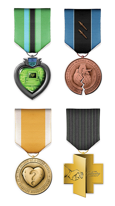 nevver :     Medals for Trials of Modern Love,  Stefan Bucher