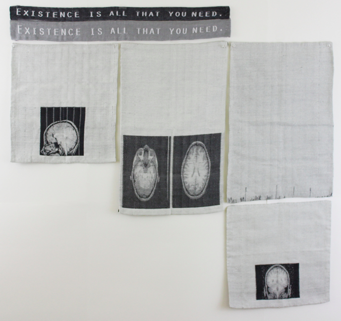 Existence is all that you need, Sizes vary, hand woven Jacquard weaving, August 2013