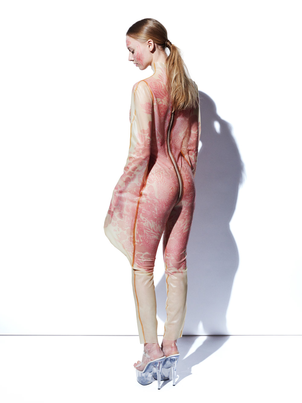 Bodysuit (back) | Alex Ulichny SILENCE Collection | Digitally Printed Latex | 2016