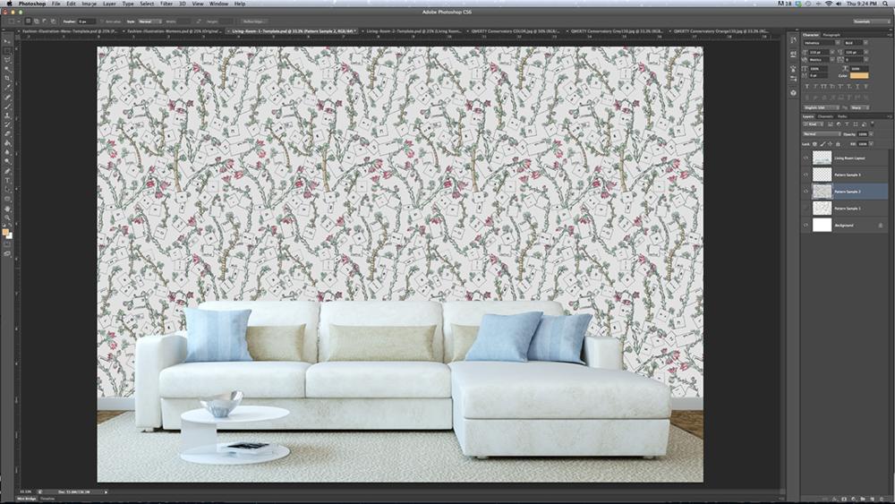 Pattern Design Adobe Photoshop CC