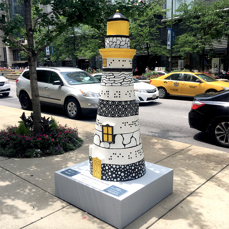 Public Art Sculpture - Lighthouses on The Mag Mile