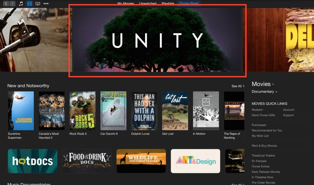 Unity iTunes