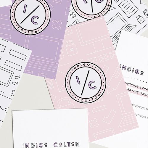 Indigo Colton Logo, Brand and Squarespace Web Design