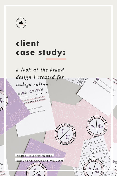 Branding by Emily Banks Creative - Client Case Study: Indigo Colton