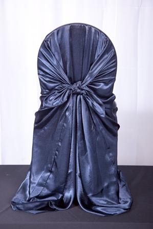 Satin Navy Blue Chair Cover.JPG