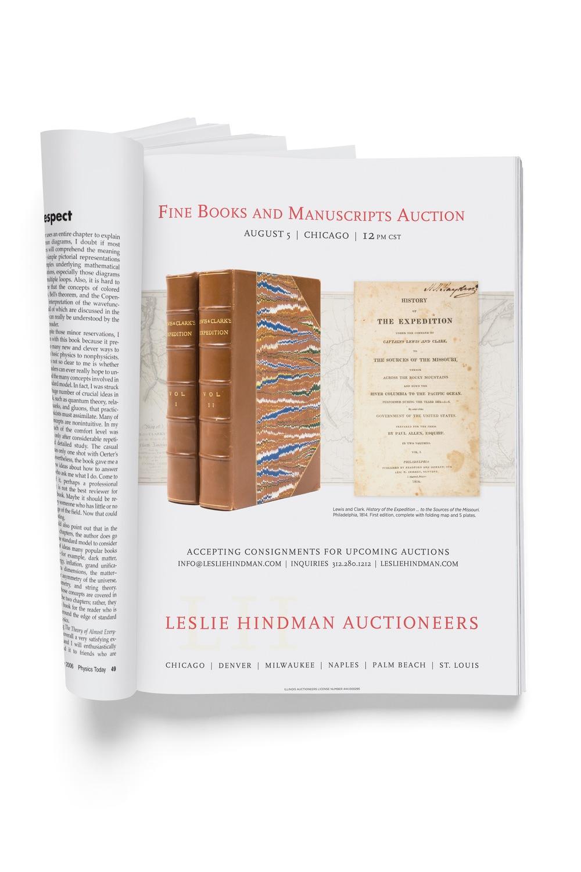 Fine Books and Manuscripts ad