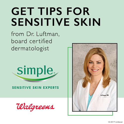 "Walgreens + Simple Skincare . A banner suite advertising a promotional ""Twitter party"" to educate consumers on the benefits of Simple skin products."