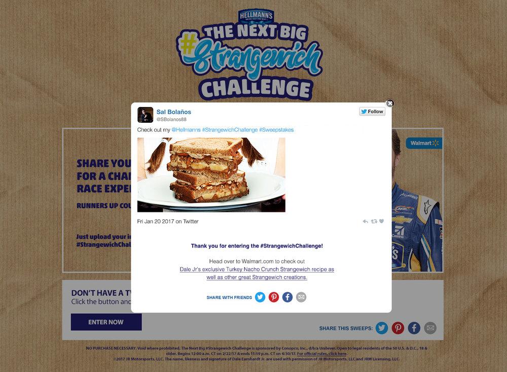 Strangewich Twitter contest entry
