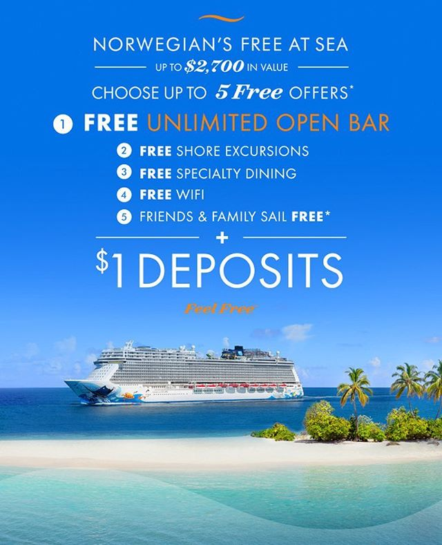 "@norwegiancruiseline is redefining the phrase ""dolla make you holla!"" with $1 deposits! You read that right! ONE DOLLAR DEPOSITS!  Ready to cruise like a Norwegian? Send us a message today!  #Zetting #ZettingTravel #Travel #Cruise #CruiseLife #Cruising #NorwegianCruiseLine #NCL"