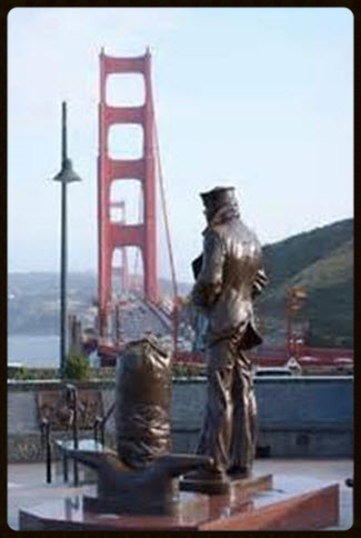 LONE SAILOR, Vista Point, North End of Golden Gate Bridge, San Francisco