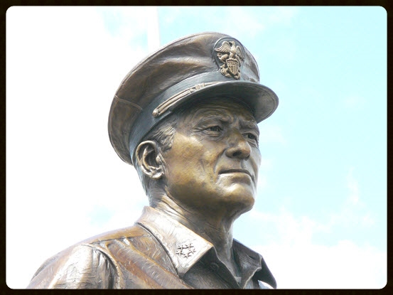 Bronze statue of FADM Chester W. Nimitz, Pearl Harbor
