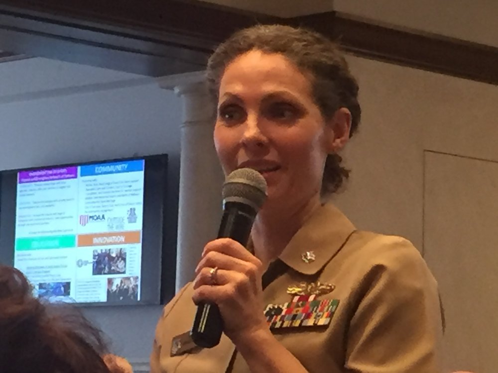 Commander Amy Hunt, USNR (photo by Companion John Garvey)
