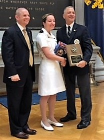 "The Naval Order of the United States Junior Division History Award: Midshipman 4/c Justine A. Ransdell for her paper ""Eradicating Mandatory Chapel at the Naval Academy: A Fight for Constitutional Rights"""