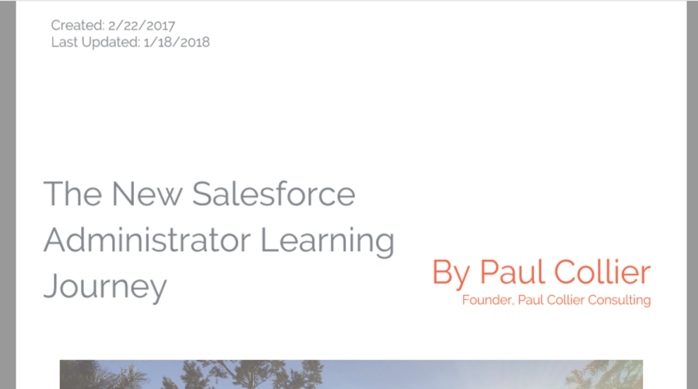 The New Salesforce Administrator Learning Journey (Collier)