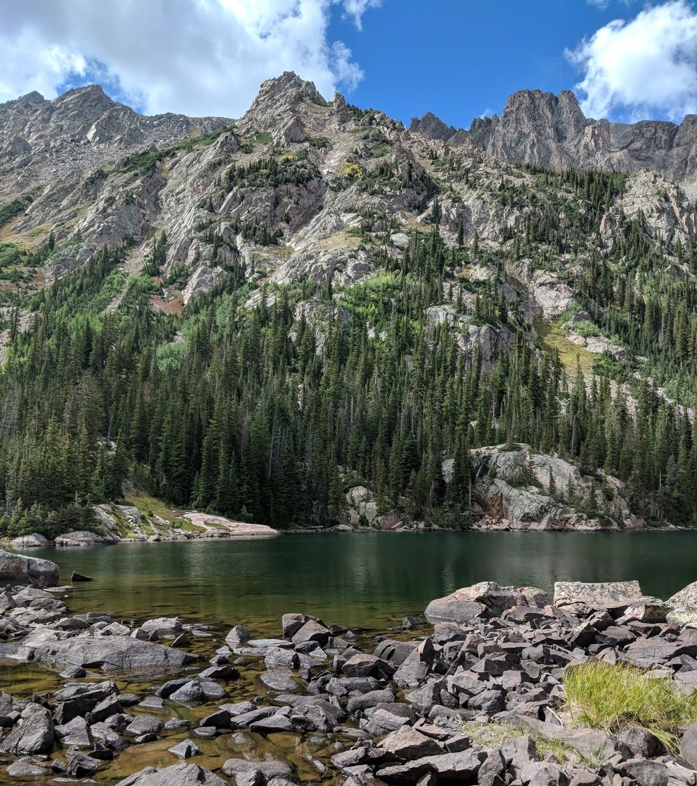 From mile 14 on a hike in the Gore range this summer, near Silverthorne Colorado