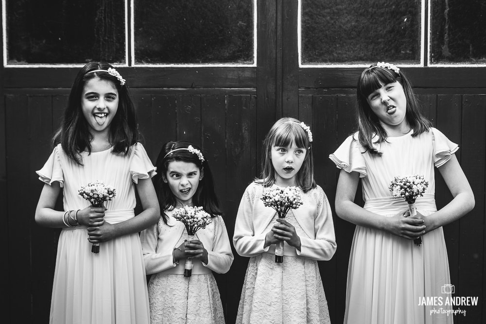 alternative bridesmaid portrait funny faces disney characters