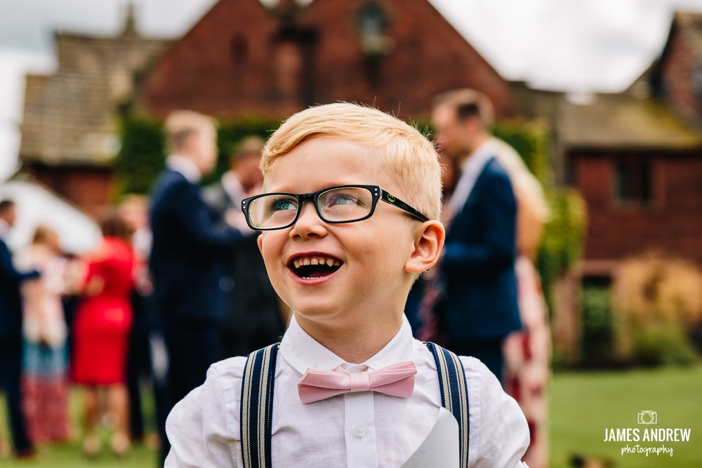 Kid Smiling At Colshaw Hall Cheshire