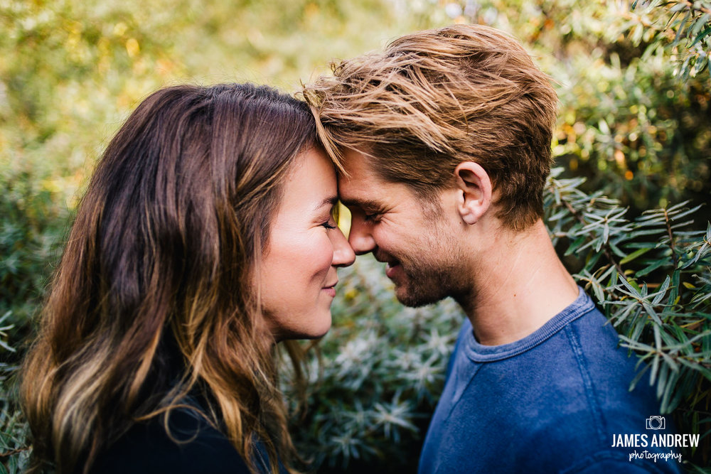 romantic engagement photo shoot intimate portrait on beach