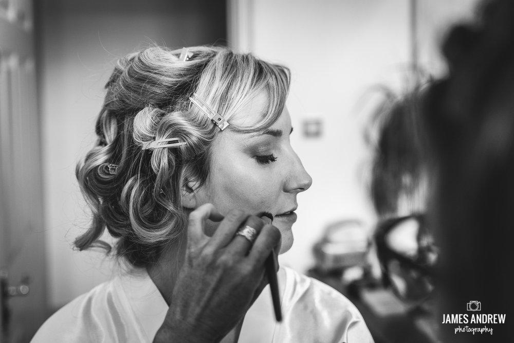 Bridal prep makeup