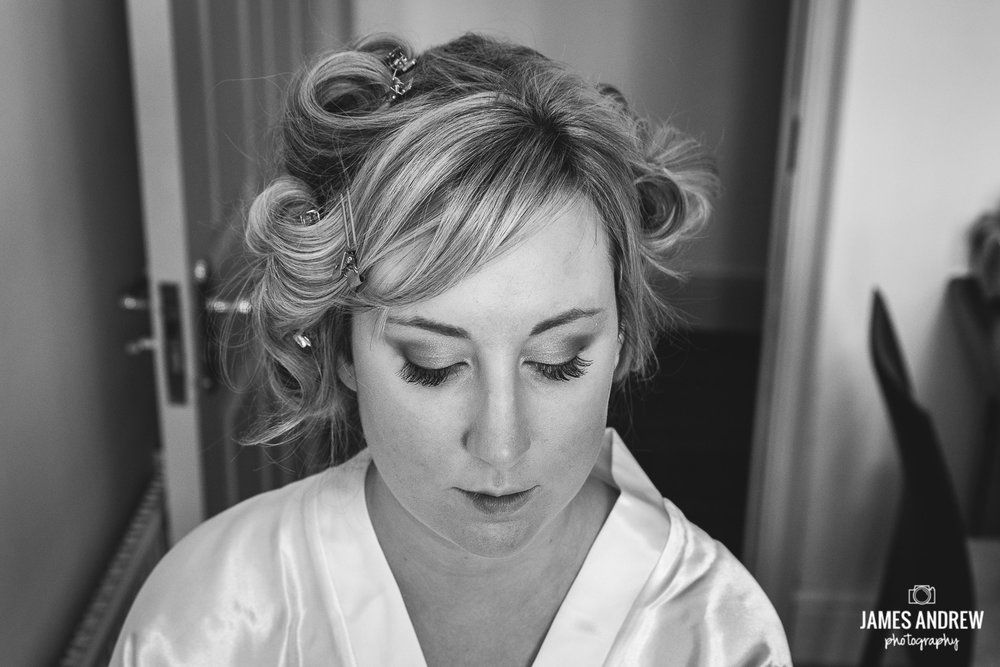 Bridal prep portrait Cranage hall