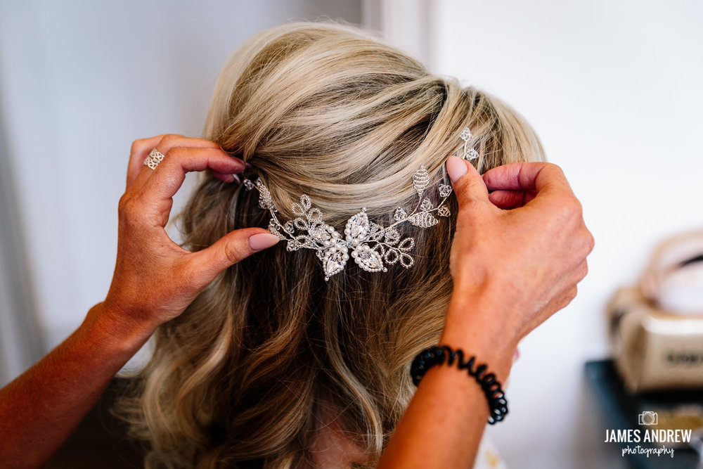 Bridal prep hair