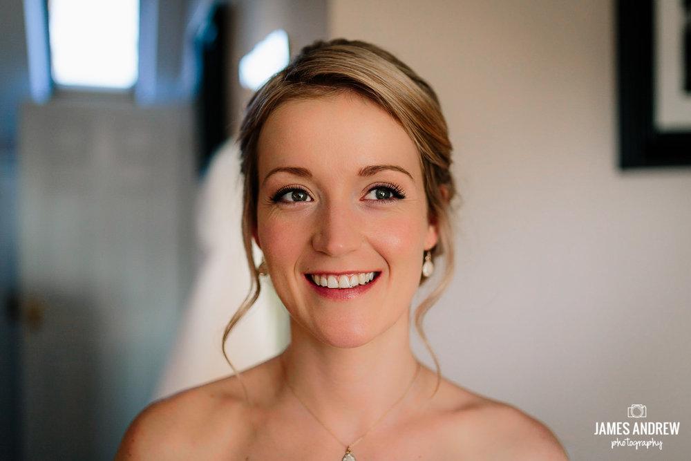Bride smiling
