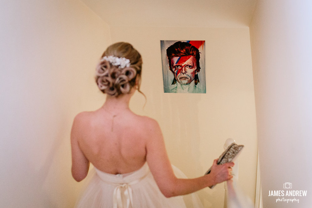 Bride and David Bowie picture
