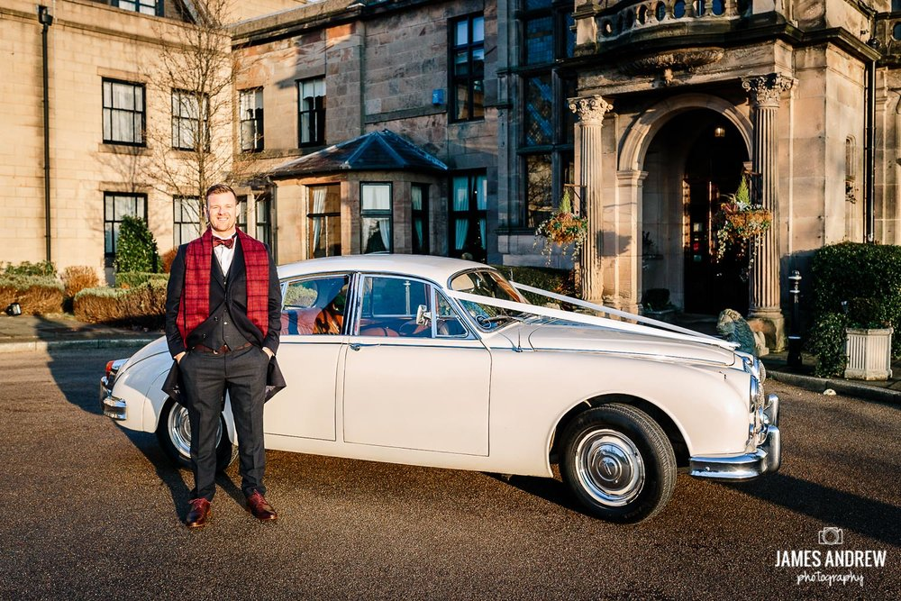 Groom and Jaguar mark 2
