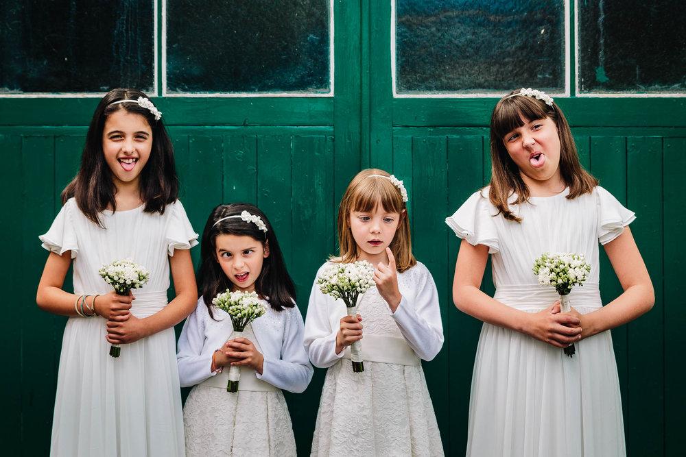 Natural bridesmaids funny documentary Photography Mill Barns Wedding Venue Shropshire