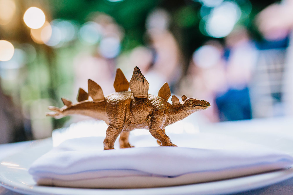 GOLD DINOSAUR WEDDING DETAILS ALTERNATIVE