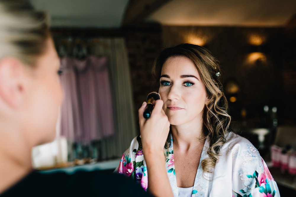BRIDE HAVING MAKE UP DONE BY KAYE SALMON MUA