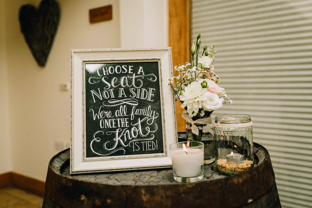 WEDDING CEREMONY SIGN PICK A SEAT NOT A SIDE DIY STATIONARY