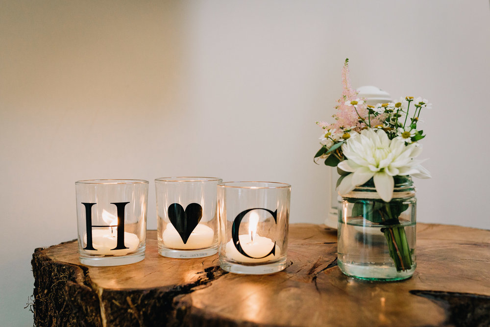 WEDDING CANDLES AT RECEPTION DIY VENUE STYLING