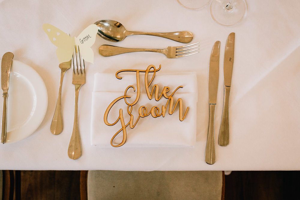 WEDDING RECEPTION PLACE NAMES GROOM WOODEN CUT OUT