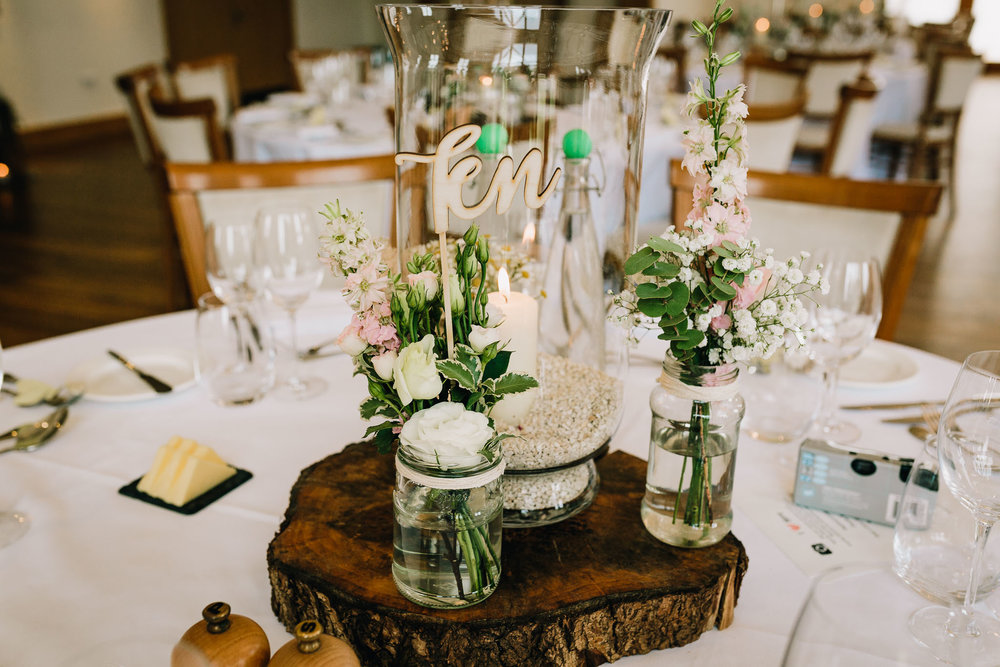 EVENING RECEPTION TABLE RUSTIC STYLING
